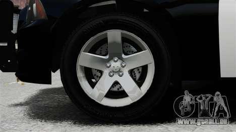 Dodge Charger 2013 Police Code 3 RX2700 v1.1 ELS für GTA 4 Rückansicht