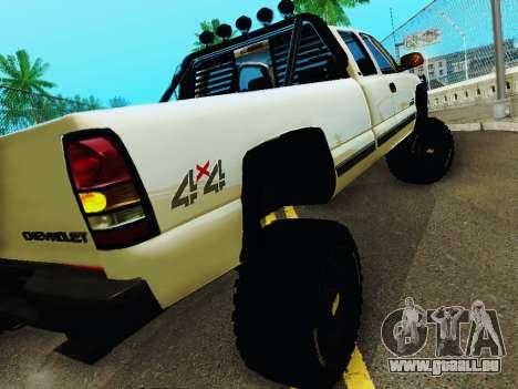 Chevrolet Silverado 2500HD 2001 für GTA San Andreas rechten Ansicht