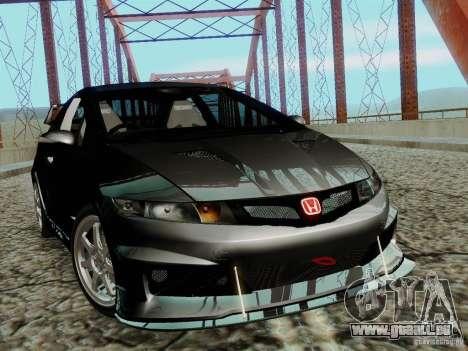 Honda Civic TypeR Mugen 2010 für GTA San Andreas zurück linke Ansicht