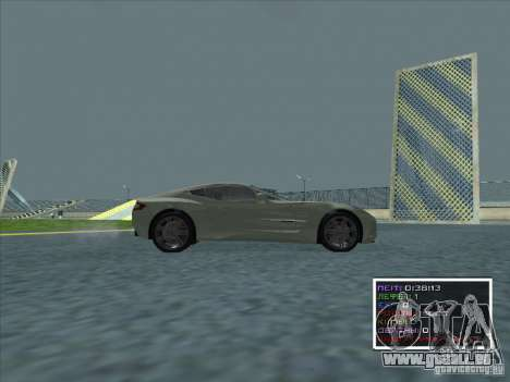 Aston Martin One 77 2011 pour GTA San Andreas laissé vue