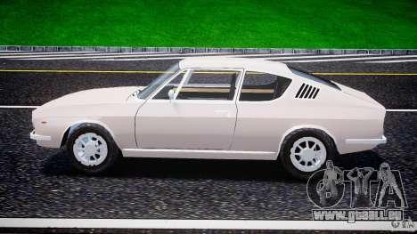 Audi 100 Coupe S pour GTA 4 est une vue de l'intérieur