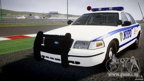 Ford Crown Victoria NYPD [ELS] für GTA 4 obere Ansicht