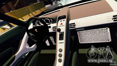 Porsche Carrera GT pour GTA 4 vue de dessus