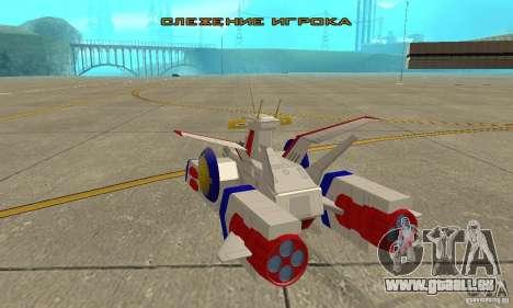 White Base 2 pour GTA San Andreas sur la vue arrière gauche