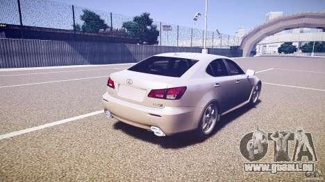 Lexus IS F pour GTA 4 vue de dessus