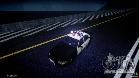 Ford Crown Victoria Raccoon City Police Car pour GTA 4 vue de dessus