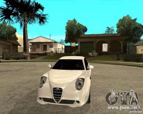 Alfa Romeo Mito pour GTA San Andreas vue arrière