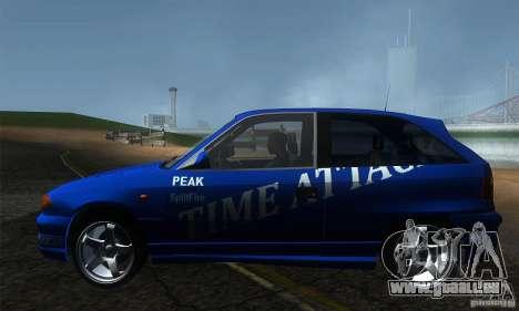 Opel Astra Time Attack pour GTA San Andreas laissé vue
