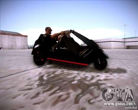 Sinclair C5 für GTA San Andreas zurück linke Ansicht
