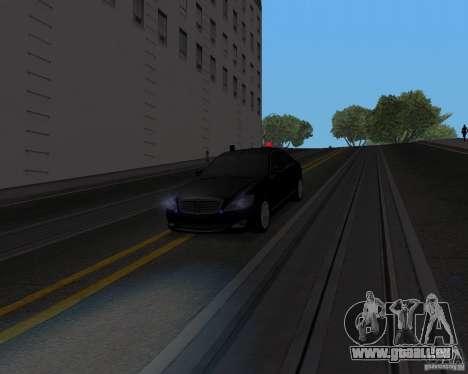 Mercedes Benz S500 w221 SE pour GTA San Andreas vue de droite