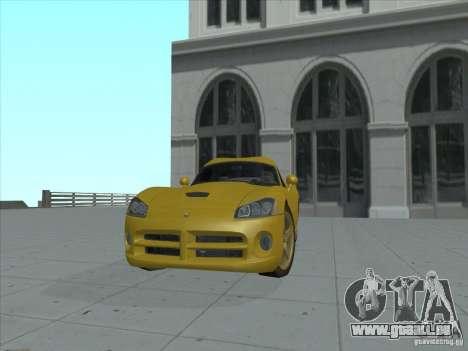 Dodge Viper SRT-10 (or Viper) pour GTA San Andreas sur la vue arrière gauche