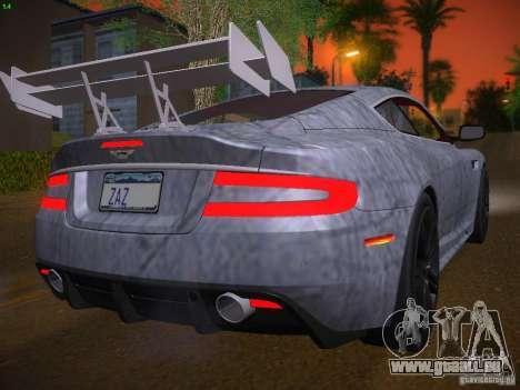 Aston Martin DBS pour GTA San Andreas vue de dessous