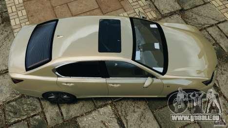 Lexus GS350 2013 v1.0 pour GTA 4 est un droit