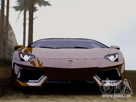 Lamborghini Aventador LP700-4 Vossen für GTA San Andreas linke Ansicht