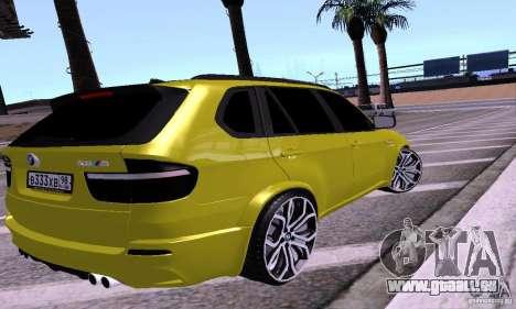 BMW X5M Gold für GTA San Andreas linke Ansicht