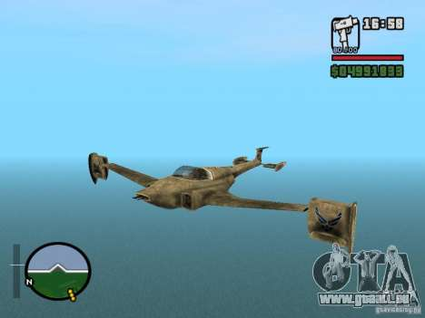 Future Army Jet für GTA San Andreas