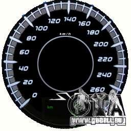Compteur de vitesse IV (peau 10) pour GTA 4