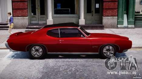 Pontiac GTO 1965 v1.1 pour GTA 4 est une vue de l'intérieur