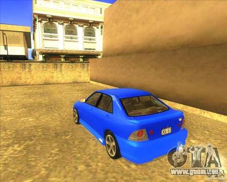 Toyota Altezza RS200 1998 pour GTA San Andreas laissé vue
