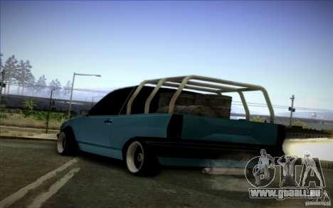 Volkswagen Polo Pickup pour GTA San Andreas sur la vue arrière gauche