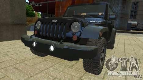 Jeep Wrangler Rubicon 2012 pour GTA 4 est un droit
