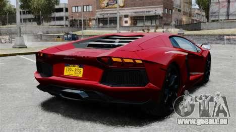 Lamborghini Aventador LP700-4 2012 v2.0 EPM pour GTA 4 Vue arrière de la gauche