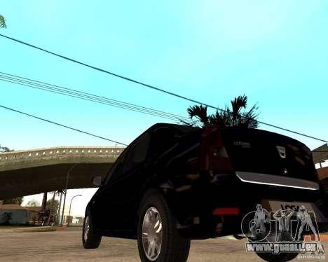 Dacia Logan 2008 für GTA San Andreas zurück linke Ansicht