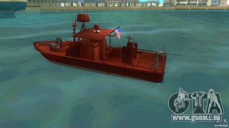 Patrol Boat River Mark 2 (Player_At_Guns) für GTA Vice City linke Ansicht