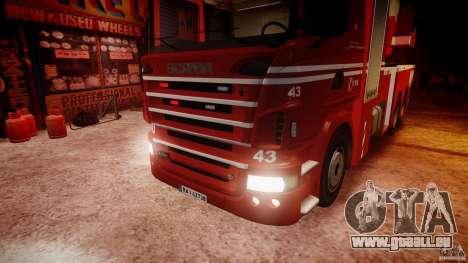 Scania Fire Ladder v1.1 Emerglights red [ELS] pour GTA 4 est une vue de dessous