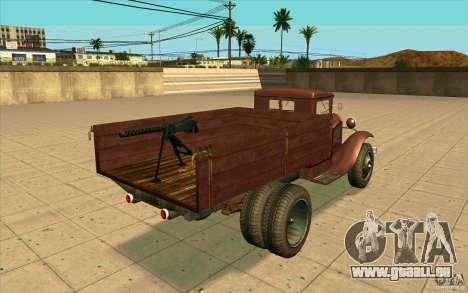 GAZ-AA pour GTA San Andreas sur la vue arrière gauche