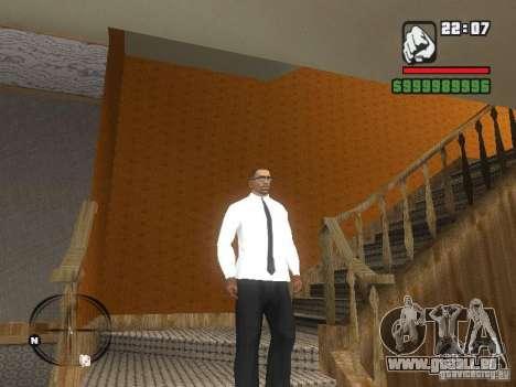 Chemise avec cravate pour GTA San Andreas