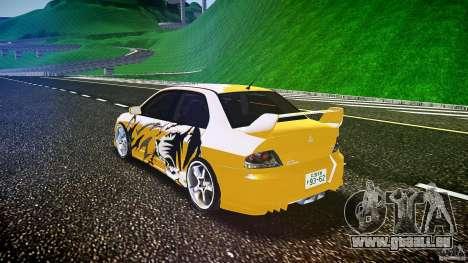 Mitsubishi Lancer Evolution pour GTA 4 est un côté