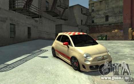 Fiat 500 Abarth Esseesse V1.0 pour GTA 4 Vue arrière