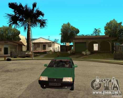 VAZ 21099 pour GTA San Andreas vue arrière