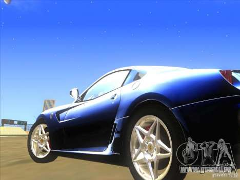 Ferrari 599 GTB Fiorano für GTA San Andreas Innenansicht