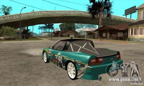 Nissan 200sx from Moscow Drift pour GTA San Andreas sur la vue arrière gauche