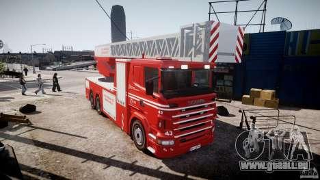 Scania Fire Ladder v1.1 Emerglights red [ELS] pour GTA 4 est un droit