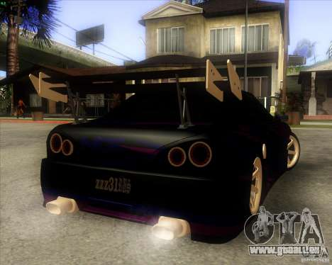 Elegy 0.2 pour GTA San Andreas vue arrière