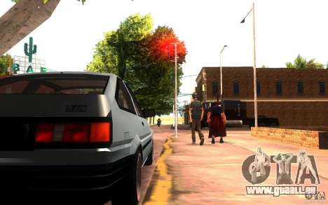 Toyota Corolla Levin GTV 3-door (AE86) pour GTA San Andreas vue arrière