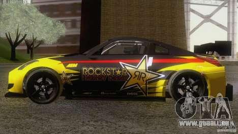 Nissan 350Z Rockstar für GTA San Andreas zurück linke Ansicht