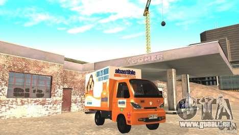Hafei Camion de Gas für GTA San Andreas