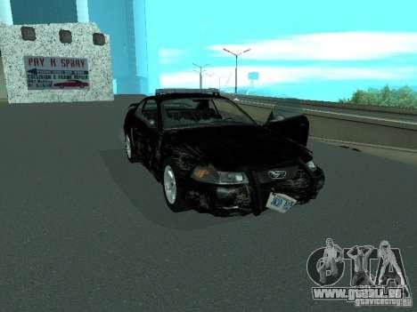 Ford Mustang GT Police für GTA San Andreas Seitenansicht