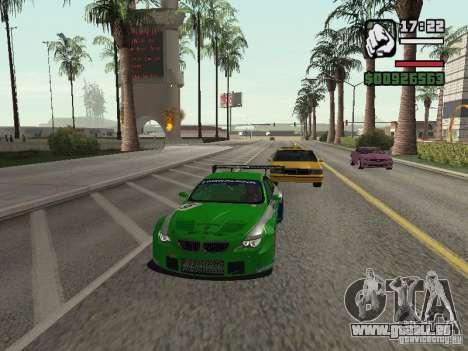 Alpina B6 GT3 pour GTA San Andreas sur la vue arrière gauche
