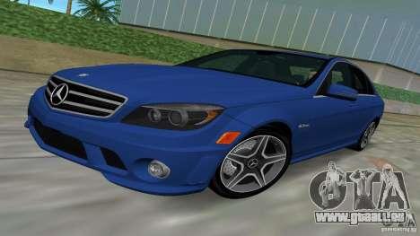 Mercedes-Benz C63 AMG 2010 für GTA Vice City Rückansicht