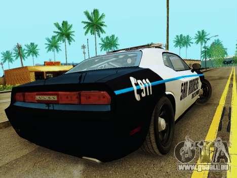 Dodge Challenger SRT8 2010 Police pour GTA San Andreas vue de droite