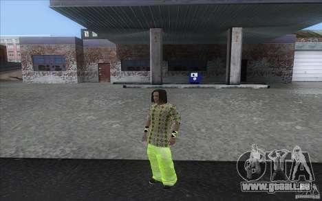 Rasta ped pour GTA San Andreas troisième écran