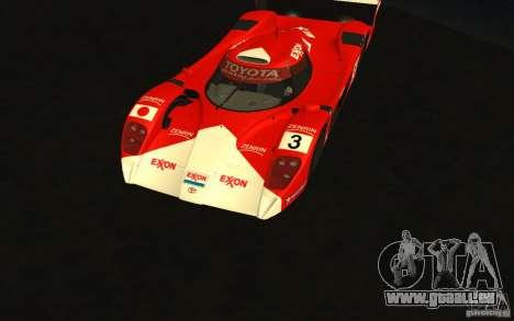 Toyota GT-One TS020 pour GTA San Andreas vue intérieure