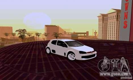 Volkswagen Golf 5 GTI W12 pour GTA San Andreas laissé vue