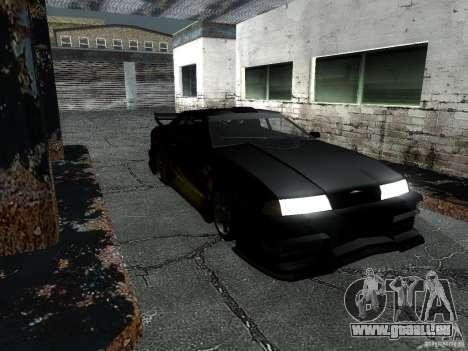 Baron de vinyle de Most Wanted pour GTA San Andreas sur la vue arrière gauche