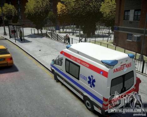 Mercedes-Benz Sprinter Azerbaijan Ambulance v0.2 für GTA 4 hinten links Ansicht